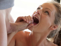 Sporty Russian Sophie Lynx is riding on the dick