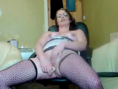 Stockings and boots fatty masturbates