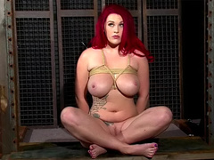 Redhead baroness Paige with tattoo wants her young master to fuck her