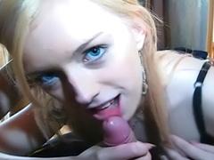 Blonde Nikole sucking cock in nice POV scene