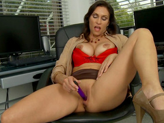 Raven Lechance is poking her tight snatch on the camera
