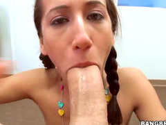 Adorable pigtails girl hardcore sex