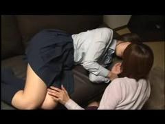 Tender Japanese tit sucking ladies