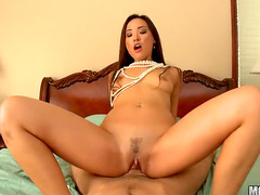 Fucking a hot brunette slut