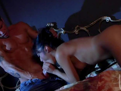 Passionate hardcore sex in bed