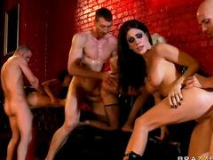 Orgy with pornstar sluts