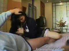Asian schoolgirl suck and fuck