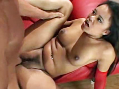 Latex boots beauty licked and fucked