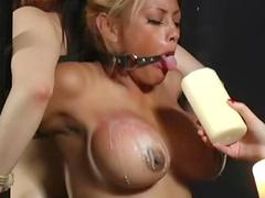 Mistress Chanta ties up her two sluts