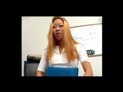 Sucked in office by Asian slut
