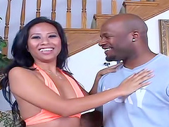 Asian Nyomi Marcela interracial hardcore