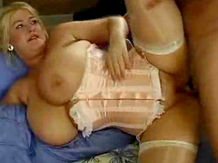 Huge tits girl in corset