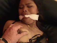 Hot tied Thai babe is getting humiliation