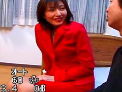 Japanese brunette Hitomi Ikeno and tasty long dick