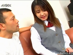 Asian babe Hikaru Oishi gets fucked in her mouth