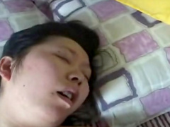 Nasty chubby Asian babe in a nice homemade video