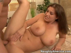 Sara Stone titjob in shower