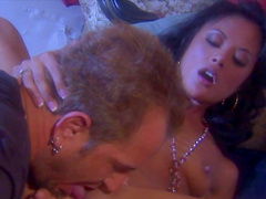Alluring Asian beauty Kaylani Lei is sucking horny dick