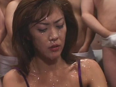 Alluring Asian babe is getting fucked in her mouth