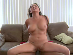 Curly brunette Adriana Luna is getting impaled by a black dick