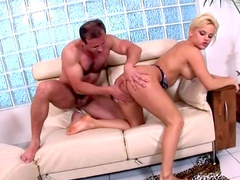 Double penetration fucking with blonde Mia Leone