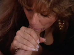 Milf gives a very deep sloppy blowjob