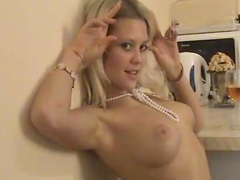 Young blonde Amber poses so sexy