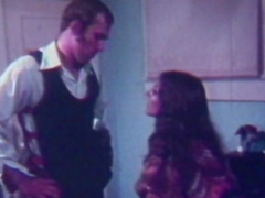 Pretty sexy retro scene with cumshot in the end