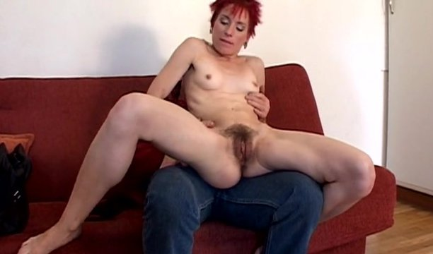 Old man and a short haired milf