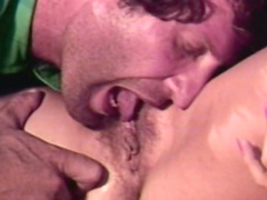 Curly-haired blonde was drilled in her face