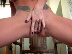 Randi takes off her sweet lingerie