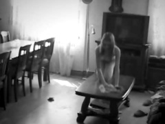 Voyeur clip of naked teen