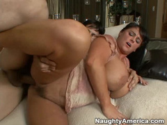 Milf nailed hard in bed