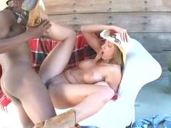 Huge cock fucks a cowgirl
