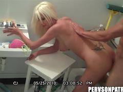 Sex in a small bathroom