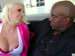 Pretty blonde milf loves black