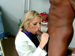 Doctor milf into black cock