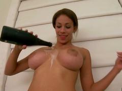Huge toy in her vagina