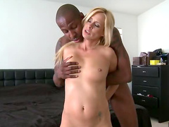 Horny blonde and black dick