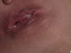 Short hair blonde POV sex