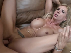 Incredible tits on blonde pornstar