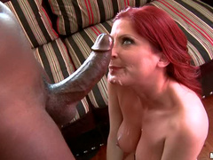 Milf redhead and black dick