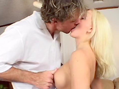 Tennis instructor fucks a blonde