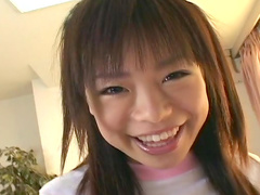 Cum swallow in the bedroom with cute Japanese teen Hinata Seto