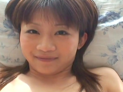 Asian Ami Kitazawa is poking her hairy puss
