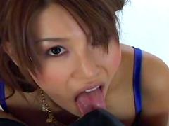 Gorgeous Asian babe Rin Nonomiya is sucking a cock