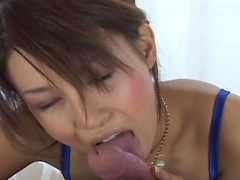Gorgeous Asian babe Rin Nonomiya is sucking a cock