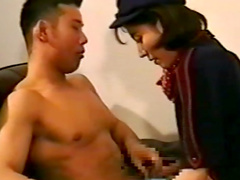 Asian brunette with small tits fucked hardcore