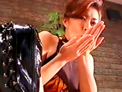 Japanese cutie is sucking dick outdoors