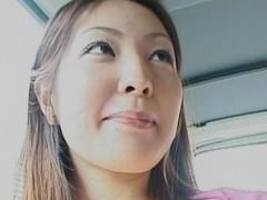 Japanese cutie masturbates her puss outsoors